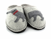 HAFLINGER® Dog Slippers | Flair Dachshund, Stone-Gray